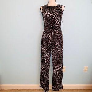 NWT EnFocus Studio Cheetah Print Jumpsuit Size 4